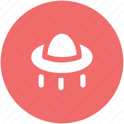 aircraft, alien spaceship, flying saucer, science, spacecraft, spaceship, ufo icon