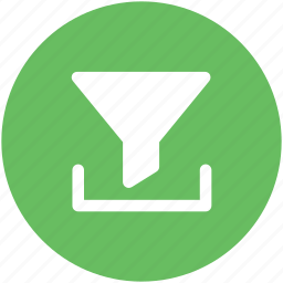 cone, filter, filtered, filtering, funnel, pipe icon