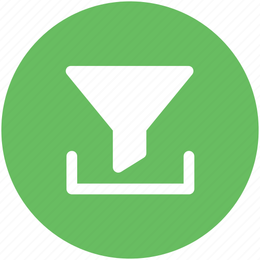 Cone, filter, filtered, filtering, funnel, pipe icon - Download on Iconfinder