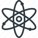 atom, molecule, orbit, science icon