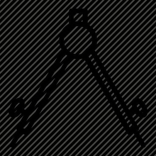circle, compass, draw, math, science icon