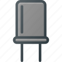 condenser, electronics, science icon