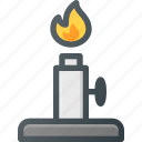 flame, lab, laboratory, light, science icon