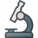 magnifying, microscope, science icon
