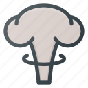 atomic, bomb, cloud, mushroom, science icon