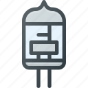 lamp, resistamce, science, transistor icon