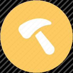 claw hammer, hammer, hand tool, nail hammer, scythe icon
