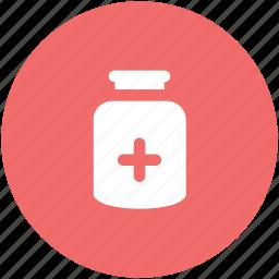 medical treatment, medication, medicine jar, pill jar, tablets icon
