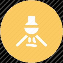 bunsen burner, conical flask, flask stand, lab burner, lab experiment, lab flask icon