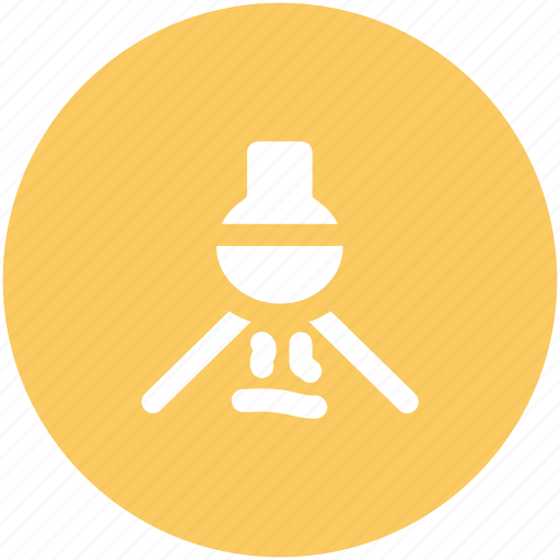 bunsen burner, conical flask, flask stand, lab burner, lab experiment, lab flask icon