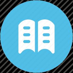 book, education, encyclopedia, open book, reading, study, wikipedia icon