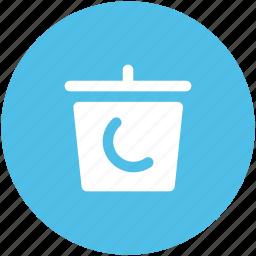 basket, bucket, dustbin, garbage can, litter bin, rubbish bin, trash bin, trash can icon