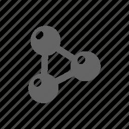 atom, atrom, experiment, molecular, physics, science icon