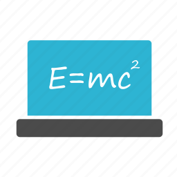 blackboard, formula, physics, science icon