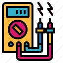 ammeter, electronics, meter, multimeter icon