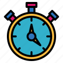 chronometer, stopwatch, timer, watch icon