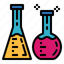 chemistry, flask, test, tube icon