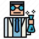 doctor, lab, man, scientist icon
