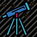 galaxy, space, star, telescope icon