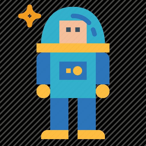 astronaut, job, occupation, space, suit icon