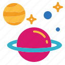 astronomy, circle, galaxy, planet icon