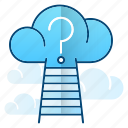 cloud, discovery, explore, science icon