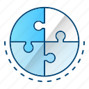 game, puzzle, science, solution icon