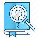 book, microscope, research, science icon