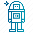 astronaut, job, occupation, space, suit icon