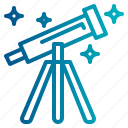 galaxy, space, star, telescope icon