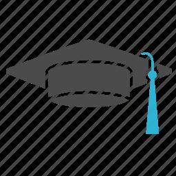 college, education, graduation, hat, school, science, student, university icon