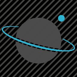 RoyaltyFree RF Clipart Illustration of a Black Ringed