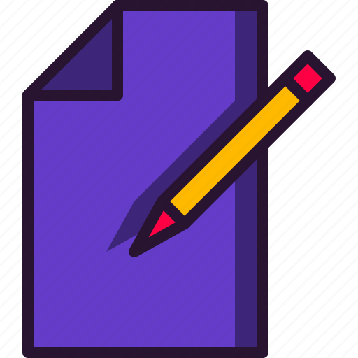 education, paper, pencil, science, study, test, write icon