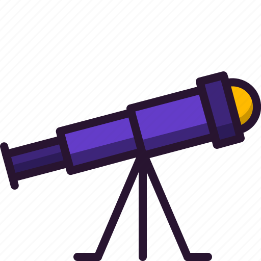astronomy, education, galaxy, science, sky, stars, telescope icon