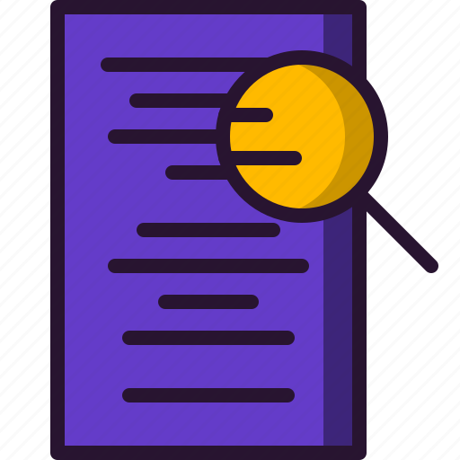 education, magnifying glass, research, science, search, study icon