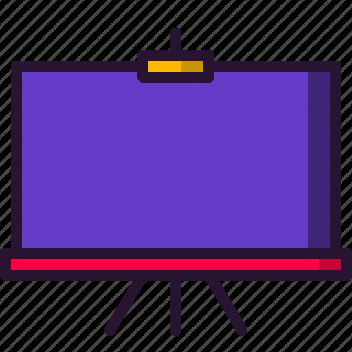board, chalkboard, education, presentation, science, slide icon