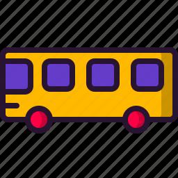 bus, car, education, school, science, wheel icon