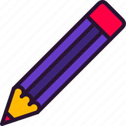education, eraser, pencil, school, science, write icon