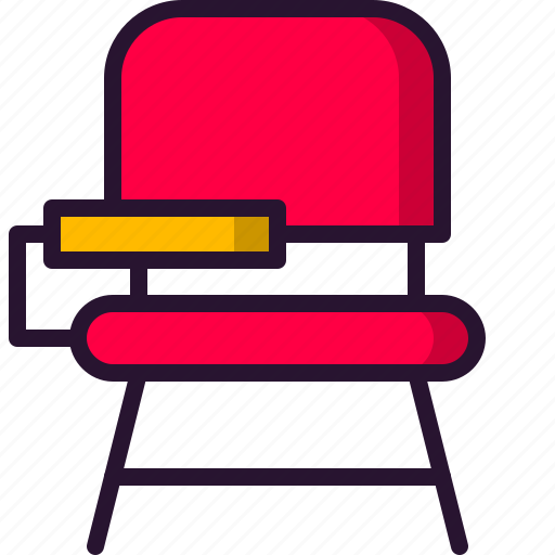 chair, desk, education, school, science, sit, table icon