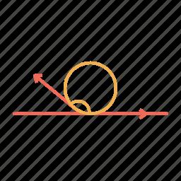angle, circle, greatherthan, line, obtusangle icon