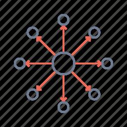 atom, ionized, molecues, nucleus, plasma, science icon