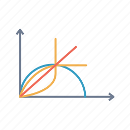 angle, circle, connect, geomatery, half, line, obtuse icon