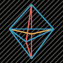 dna, polygon, science, shape, square, triangle icon