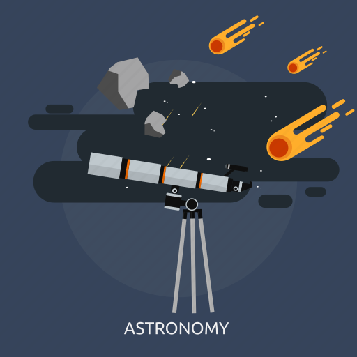 astronomy, comet, constellation, education, meteor, observatory, telescope icon