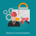 design, engineer, engineering, process, research, technician, worker icon