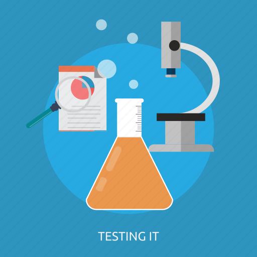 chemistry, experiment, formula, microscope, molecule, research, science icon