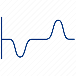 altitude, line, negative, positive, science icon