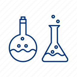beaker, lab, liquid, science, tube, vapour icon
