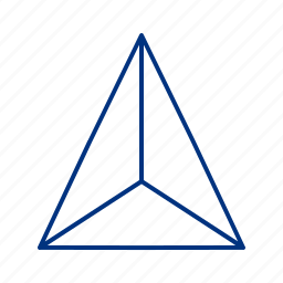 center, centroid, equitriangle, science, shape, triangle icon