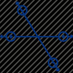 atome, attract, attraction, electric, electron, line, molecule icon